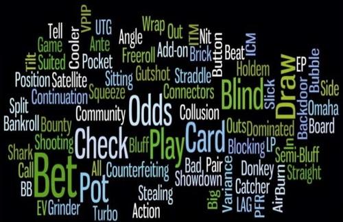 Покер термины — словарь терминов, терминология и сленг